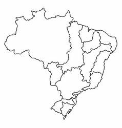 Brazilian hydrographic regions vector
