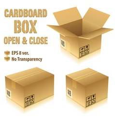 Cardboard boxes with icons vector