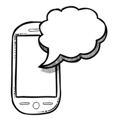 Cartoon image of message icon sms symbol vector