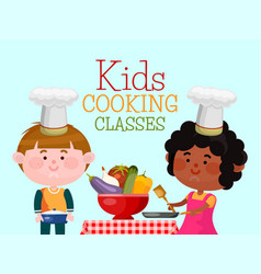 chefs kids cooking classes vector image