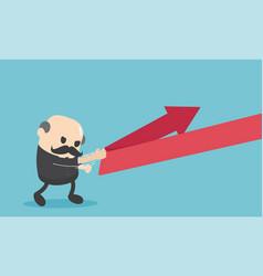 chief businessman reflection arrow vector image