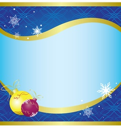 christmas card with blue pattern - vector image vector image