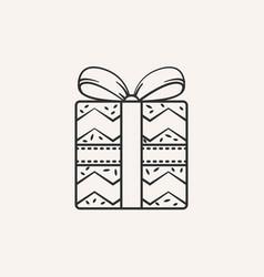 christmas gift icon vector image