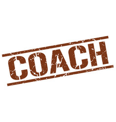 Coach stamp vector
