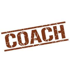 Coach stamp vector