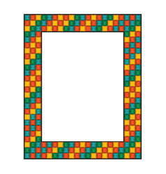 Colored mosaic frame vector