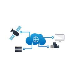 Computer internet cloud networking wide area vector