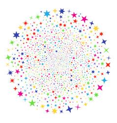 confetti stars festival sphere vector image