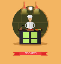 Cooking in flat style vector