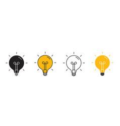 Creative idea line icon lightbulb education vector