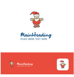 creative santa clause logo design flat color logo vector image