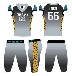 Custom design american football uniforms template vector