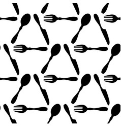 cutlery seamless beautifully laid spoon fork and vector image