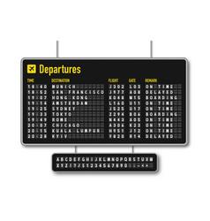 Departure and arrival board airline scoreboard vector