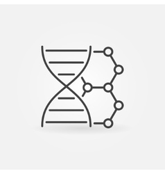 DNA linear icon vector