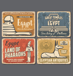 egypt pyramids and sphinx cairo travel landmarks vector image