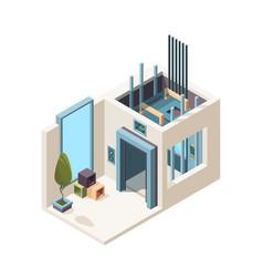 Elevator room building machine hall elevator vector