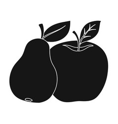 fruit single icon in black style fruit vector image