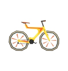 Futurictic Design Yellow Bicycle vector