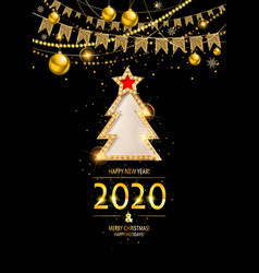 gold ew year 2020 background vector image