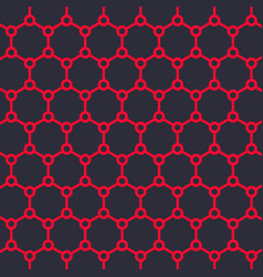 graphene structure vector image