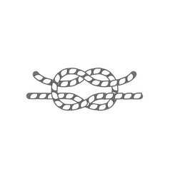 Hammock rope knot isolated icon vector