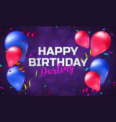 Happy birthday greeting card or banner vector
