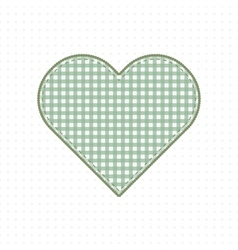 Heart of handmade fabric cute baby style vector
