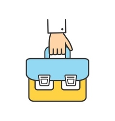 Icon Success Man with a Briefcase in His Hand vector image