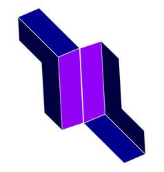 image of symmetrically arranged geometric s vector image