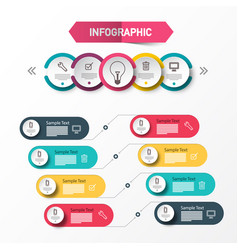 infographic layout infographics concept data flow vector image