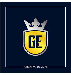 initial letter ge logo template design vector image