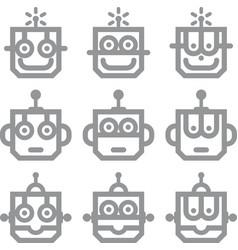 Intelligence kid logo machine mechanical play vector