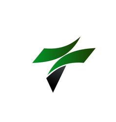 letter t logo design concept template vector image