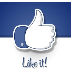 LikeThumbs Up symbol icon vector image