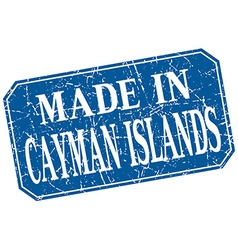 Made in Cayman Islands blue square grunge stamp vector