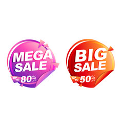 mega sale big sale up to 50 off isolated vector image