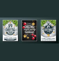 Merry christmas party flyer design vector