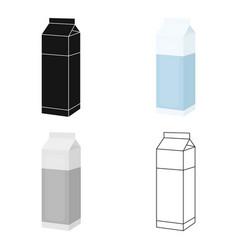 Milk box icon cartoon single bio eco organic vector