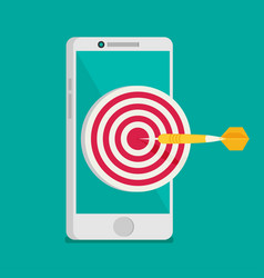 Mobile marketing and targeting smartphone with vector
