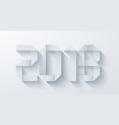 modern origami 2018 happy new year vector image