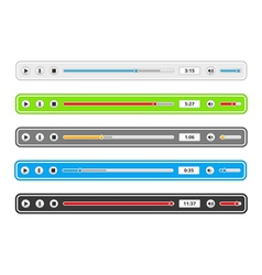 Music Player Templates vector image