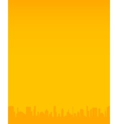 Orange City Background vector image