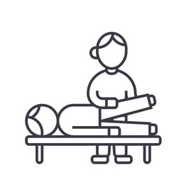 Osteopathymanual therapymassage line icon vector
