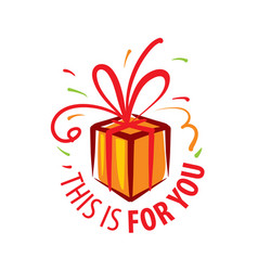 painted gift in form boxes vector image