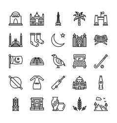 Pakistani culture and landmarks vector