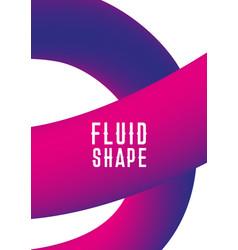 Plastic shape modern abstract cover liquid fluid vector