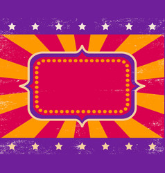 poster for circus or cinema vector image