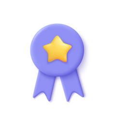 Quality guarantee ribbon icon with star premium vector