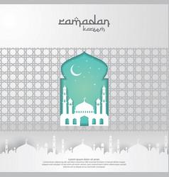 Ramadan kareem islamic greeting card design vector